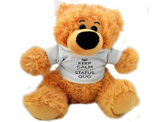 Personalised 12 inch STATUS QUO FAN TEDDY BEAR Great gift for quo fan