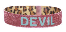 Saucy Sparkling Pink Glitter Glow in the Dark- Devil Velcro Bracelet(Zx206/62)