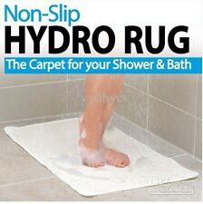 Non Slip Hydro Rug Mat Shower Bath Tub Bathroom Carpet Anti Microbial Safety NEW