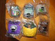 Burger King Kids Disney Pocahontas Finger Puppet 1996 Complete Set 6 Figs Sealed