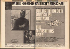 THE CHRISTMAS TREE__Original 1969 World Premiere Trade AD promo__WILLIAM HOLDEN