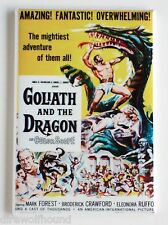 Goliath and the Dragon FRIDGE MAGNET (2.5 x 3.5 inches) movie poster