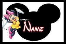 4x6 Disney Cruise Stateroom Door Magnet - MICKEY & ANY CHARACTER - PERSONALIZED