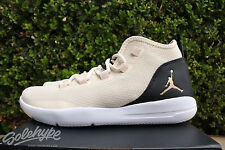 NIKE AIR JORDAN REVEAL PREM GS SZ 5 Y HEIRESS PEARL BLACK GOLD 834232 220