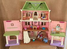 Fisher Price Loving Family Grand Mansion Dollhouse Victorian Doll Furniture Lot