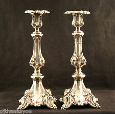 Ornate Silver Plated Candlesticks Victorian Baroque Gothic Design ?