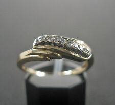 Goldring in aus 10K. 416er Gold Brillantring mit 10 Diamanten Brillant Diamond