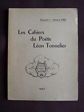 Les cahiers du poète Léon Tonnelier - Fasc. 1 1955