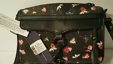 Rebecca Minkoff Mini Mac Crossbody Bag Black Floral NWT - READ DESCRIPTION!