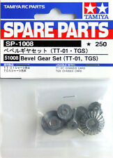 Tamiya 51008 RC TT01 Bevel Gear Set TT01E/M05/M06/DT02/TGS Spare Parts SP1008