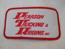 PARSON TRUCKING & RIGGING, INC. USED COMPANY NAME PATCH TAG