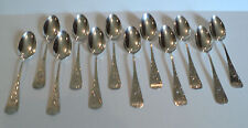 """SET OF 12  WHITING """"ANTIQUE LILY"""" STERLING SILVER TEASPOONS, c.1882"""