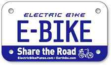 "***** E-BIKE Electric Scooter Bike License Plates 4""x7"" *****"