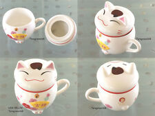 Lucky Cat Ceramic Coffee Milk Tea Cup Mugs A Lovely Gift IN BOX