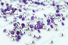 1000 diamant effet cristal violet fonce et argent deco table Mariage salle scrap