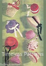 Vintage Barbie Fashion Doll, Hats & Bags Crochet Reproduction Pattern-