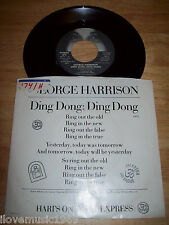 "1974 George Harrison NEAR MINT APPLE 7"" Ding Dong; Ding Dong/Hari's On Tour NM"