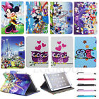 """Disney Mickey Owl Leather Case Cover For 9"""" 10"""" 10.1"""" Inch Tablets PC Kids Gift"""