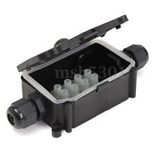 3 WAY Waterproof Junction Box Cable Line Protection Electric Enclosure Case IP66
