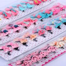 30pcs infant baby girl Grosgrain ribbon hair bows with clips toddler accessory