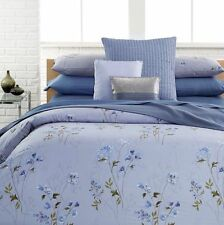 CALVIN KLEIN Shenandoah KING DUVET COVER SET 3pc Floral Lavender Blue Watercolor