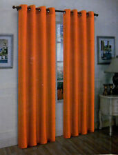 2 PANELS GROMMET FAUX SILK WINDOW CURTAINS DRAPE TREATMENT MIRA 108""