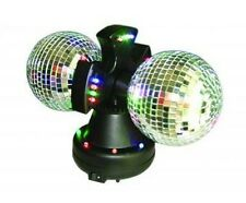 "4.5"" Twin Mirror Rotating Disco Ball for DJ Party LED Light Lamp"