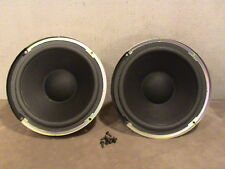 "AIWA 8"" 4 OHM SHIELDED SPEAKER WOOFER  PAIR"
