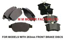 PEUGEOT 307 1.4 1.6 2.0 HDi (01-08) FRONT and REAR BRAKE DISC PADS SET