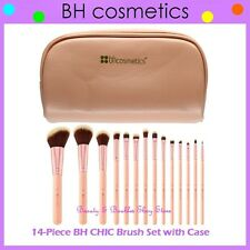 NEW BH Cosmetics 14-Piece CHIC Pink Brush Set w/Zipper Bag FREE SHIPPING Makeup