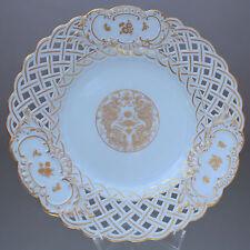 Meissen: Teller mit Ming Drachen in Gold, Durchbruch, cabinet plate, dragon