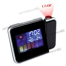 LED Backlight Digital Projection Alarm Clock with Alarm Snooze Weather Display