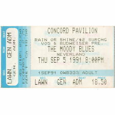 THE MOODY BLUES Concert Ticket Stub CONCORD CALIFORNIA 9/5/91 PAVILION