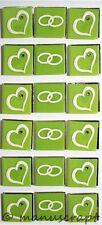 Artoz Artwork 3D-XL-Sticker, Herzen grün, Hochzeit Liebe