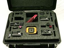 Black Armour Case includes Pelican 1450 5 cam Gopro 3 3+ 4  & Hero Session foam