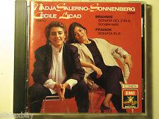 NADJA SALERNO-SONNENBERG & CECILE LICAD BRAHMS FRANCK EMI RECORDS 1988 CD