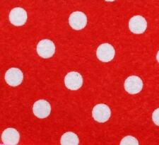 PRINTED PATTERN  Acrylic Felt Red with White Polka Dots