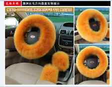 HOT 4 Colors Elastic Fluffy Woolen Auto Car Steering Wheel Cover Warm Winter
