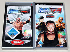 2 PSP GIOCHI SET-SMACKDOWN VS RAW 2007 & 2008-come nuovo-ECW WWF WWE