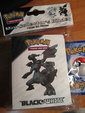 Pokemon RESHIRAM+ZEKROM Black&White Pocket Card MINI Binder/Album/Folder BW Set