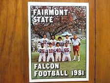 1981 Fairmont State Football Guide/DAVE RITCHIE/LUC  TOUSIGNANT/CHRIS HUMPHRIES)