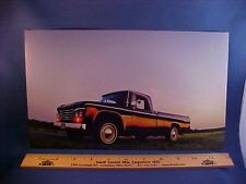 1964 Dodge D-100 Sweptline pickup truck calendar picture--EZ frame 64 Mopar