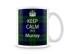 KC_190 Keep Calm I'm A Murray (Scottish clan, Tartan)  custom gift personalised