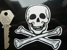 JOLLY ROGER Skull & Crossbones HIGHLY REFLECTIVE Cool Custom Bike 75mm STICKER
