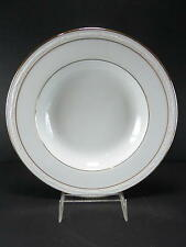 NORITAKE CHINA LOCKLEIGH RIM SOUP WHITE SCAPES NEVER BEEN USED