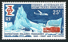 FSAT TAAF 33, MNH.French Polar expeditions, 20th ann.Camp,Helicopter,Plane,1969