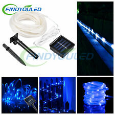 23ft 50leds 7m blue Solar Rope garden  tube light Waterproof lamp Outdoor string