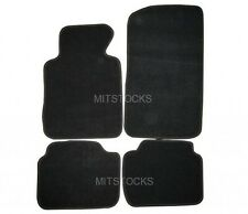 FIT FOR 99-05 BMW E46 3-SERIES BLACK NYLON CARPET FLOOR MAT 4 PCS NEW