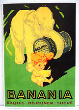 CPM REPRODUCTION AFFICHE ANCIENNE / BANANIA VERS 1930