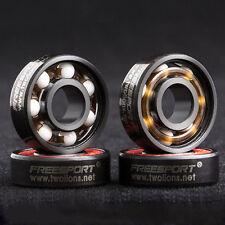 608RS Good Roller Skates Ceramic Ball Inline Skate Bearings Drift Plate BK